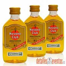 Botellitas Mini botellas de Ron Havana Club Añejo 5cl.